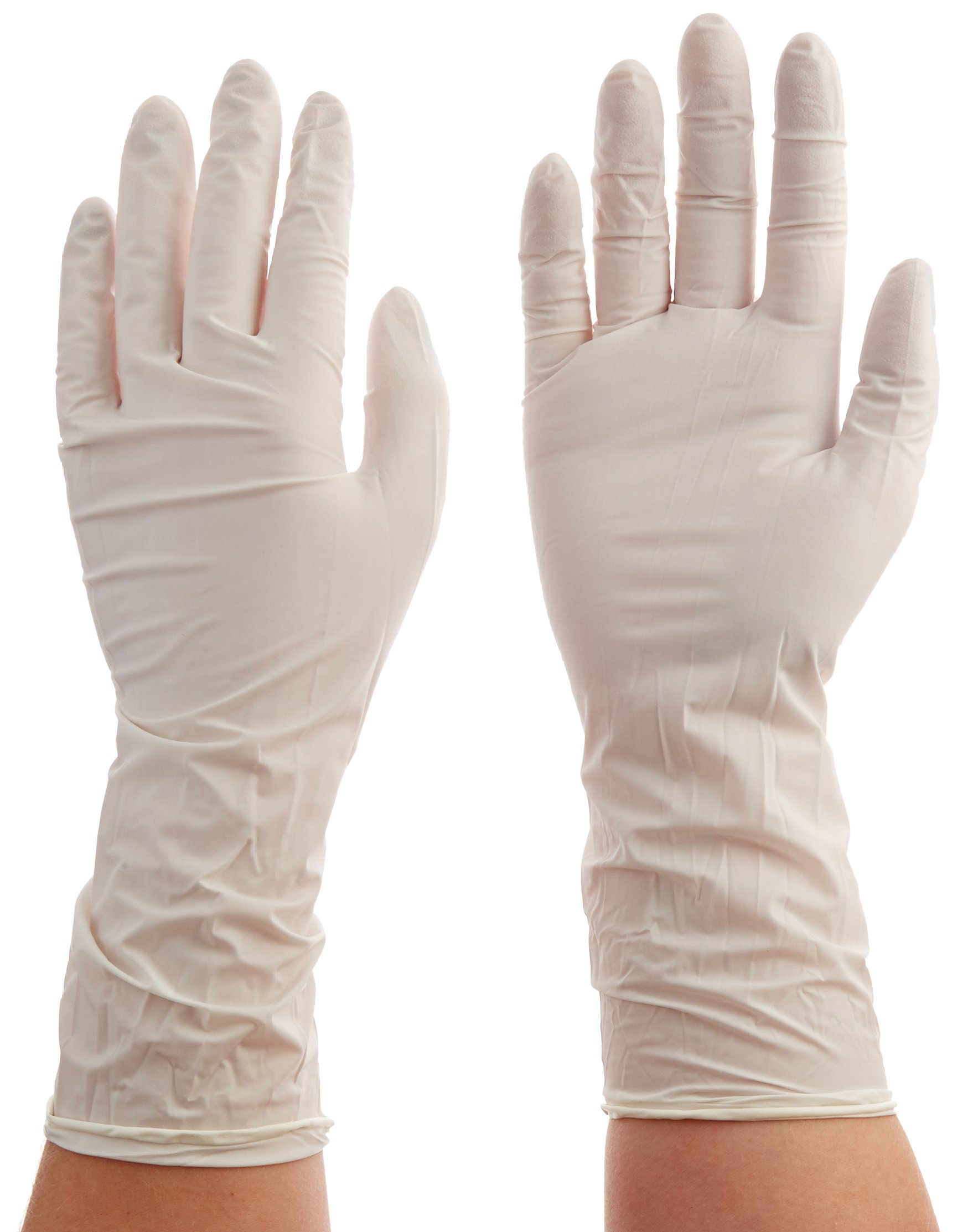 Total Source Manufacturing CRP0166_Sm Cleanroom Nitrile Gloves, Powder Free, Small, Textured, 12'' 10 Bags/Case