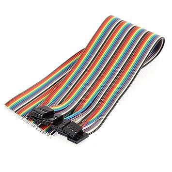 Aexit 10Stk 30cm Lang 4P Buchse Breadboard Jumper Kabel ...