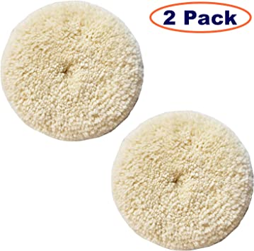Thick and Aggressive 100/% Natural Wool Cutting /& Polishing Sisha Wool Polishing Pad 6 Buffing Pad with Hook and Loop Back for Compound