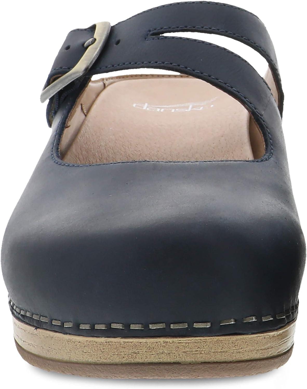 Dansko Womens Britney Leather Closed Toe Clogs