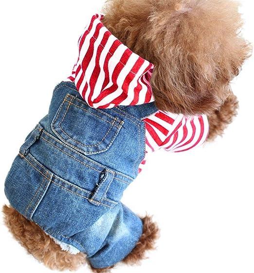Oferta amazon: SILD Cool Vintage Lavado Vaquero Chaqueta Jumpsuit Azul Vaquero Ropa para Mascota pequeña Perro Gato / 3 Estilos XS-XXL