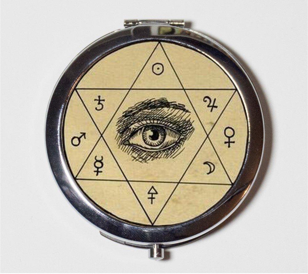 Amazon.com: Occult Eye Compact Mirror Hexagram Esoteric Make Up ...