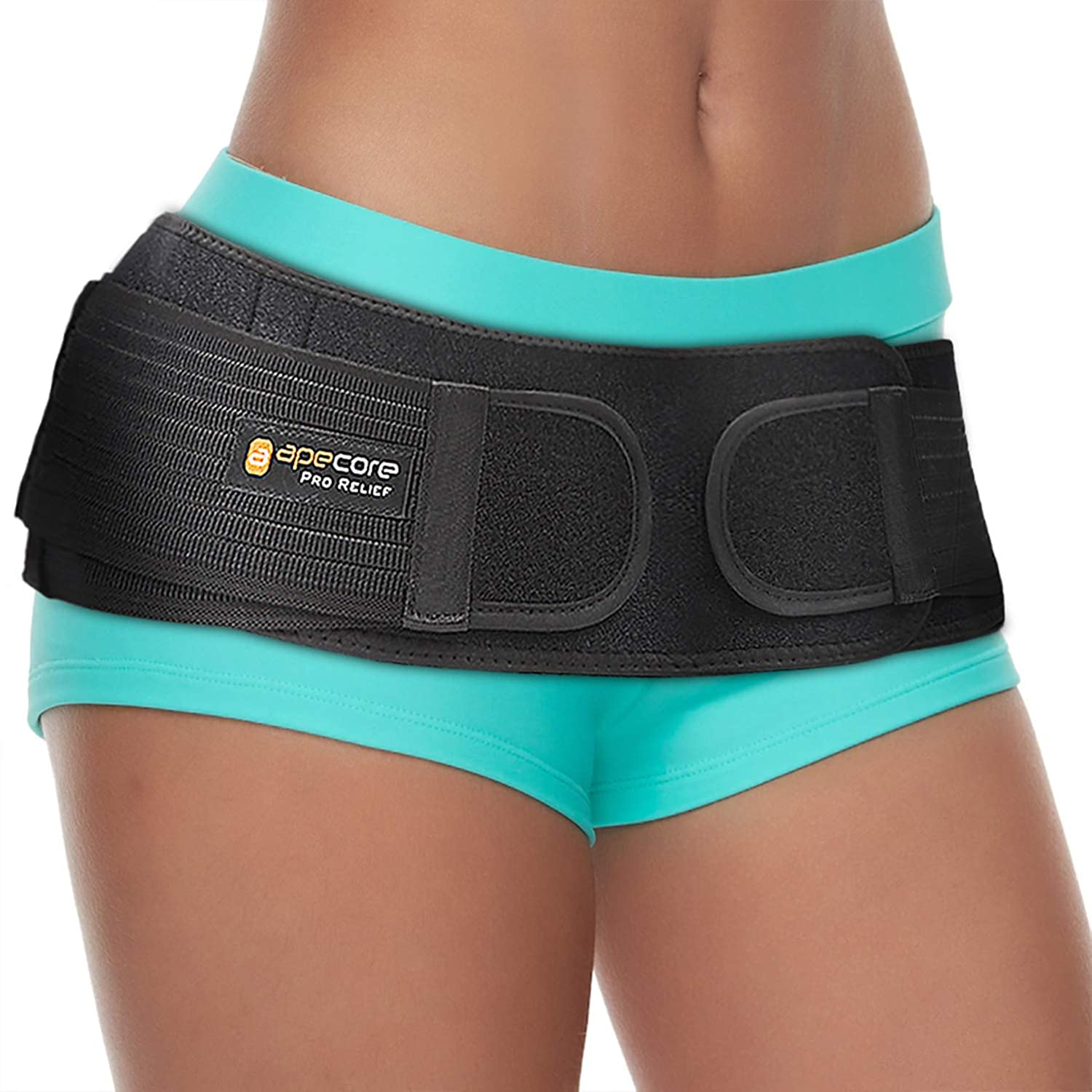 Sacroiliac Si Hip Belt by Apecore – PRO Relief for Sciatica, Pelvic, Lower Back, Lumbar and Leg Pain. Si Joint Support for Women and Men. Anti-Slip Sciatic Nerve Brace: Health & Personal Care