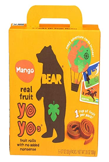 Bear Yoyo Fruit Roll Mango Multipack, 3 5 oz