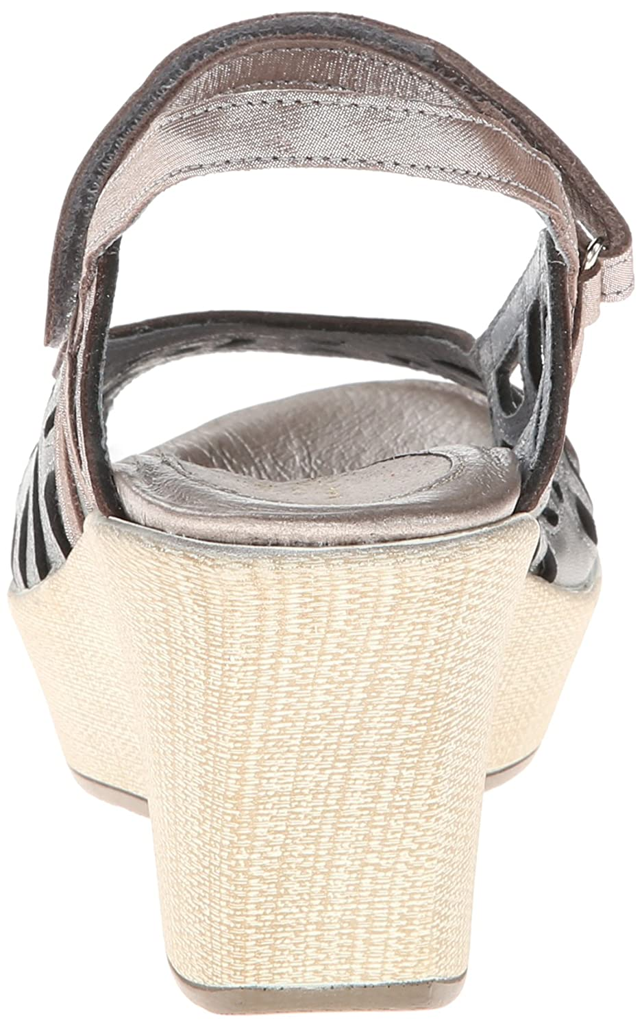 NAOT Women's Deluxe Wedge Sandal B00DS6VKHK 39 EU/7.5 - 8 M US|Sterling/Silver Threads Leather