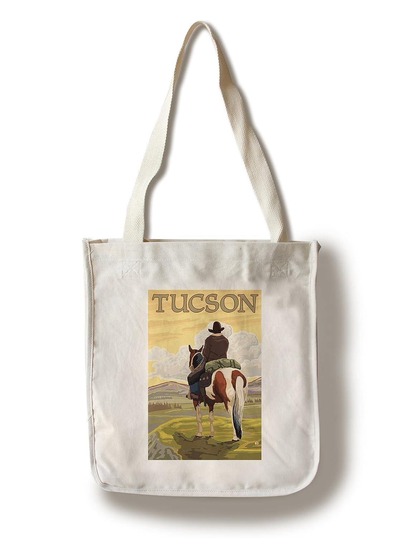 【ラッピング無料】 ツーソン、アリゾナ州、カウボーイと馬 Canvas Canvas Tote Tote Bag LANT-77486-TT B01LW8Z8OG Bag Canvas Tote Bag, カクタスコガ:6da5720d --- arianechie.dominiotemporario.com