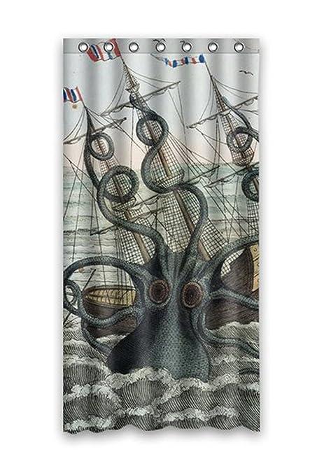 KXMDXA Sea Monster Kraken Octopus Bathroom Polyester Shower Curtain 36x72 Inch