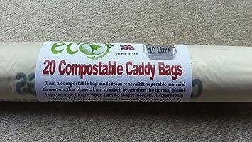 Amazon.com: 10L Biodegradable & Compostable Kitchen Caddy ...