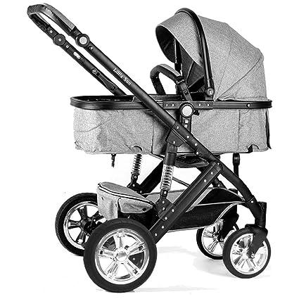 ZXLDP Sillas de paseo Cochecito de bebé plegable /Puede sentarse de dos vías ligeramente Llevar