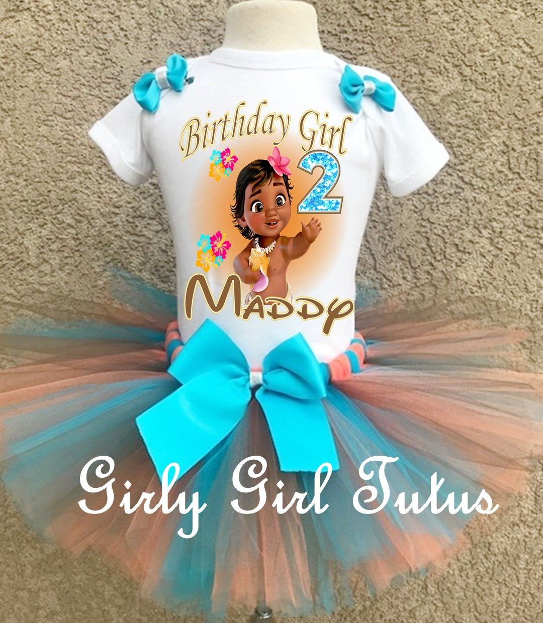 Moana Baby Personalized Birthday Outfit Tutu