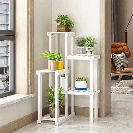 ZGP - Soporte de madera maciza para plantas y balcón, esquina, esquina, esquina