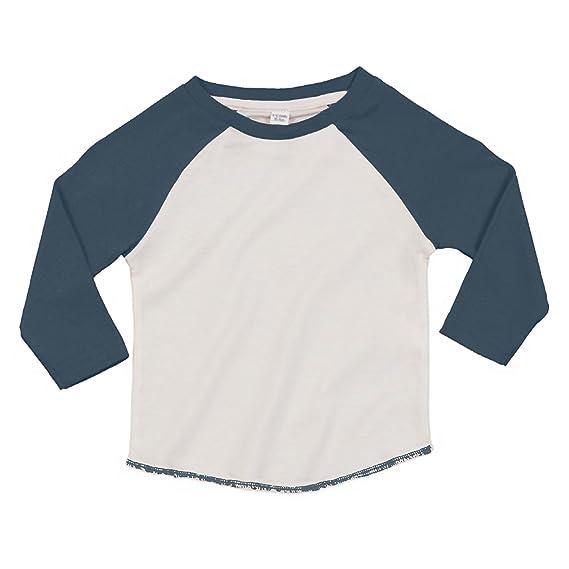 Babybugz - Camiseta de manga larga estilo béisbol de algodón orgánico unisex para bebé (6