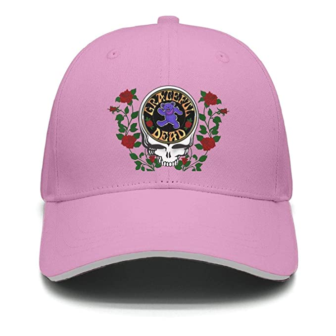 82ced01a6b4f1 Rock-Band-The-Grateful-Dead-Bear- Snapback Trucker Cap for Men and Women  Clean Up Adjustable Hat One Size at Amazon Men s Clothing store