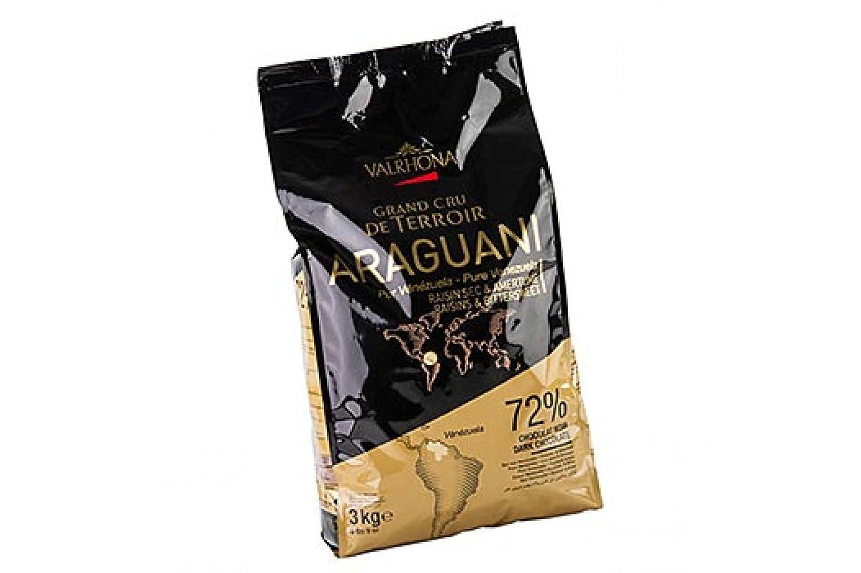 Amazon.com : Valrhona Dark Chocolate Pistoles - 72%, Araguani - 1 ...