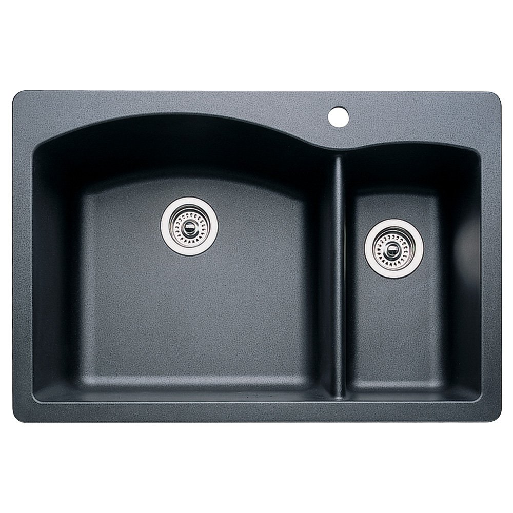 Blanco 440199 diamond 1 12 bowl kitchen sink anthracite finish blanco 440199 diamond 1 12 bowl kitchen sink anthracite finish double bowl sinks amazon workwithnaturefo