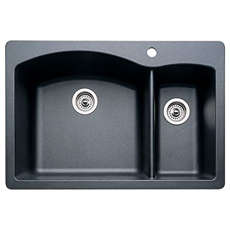 blanco 440199 diamond 1 1 2 bowl kitchen sink anthracite finish blanco 440199 diamond 1 1 2 bowl kitchen sink anthracite finish      rh   amazon com