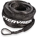 Synthetic Winch Rope 3/16' x 50' - 8200 Ibs Winch Line Cable Rope with Protective Sleeve for 4WD Off Road Vehicle ATV…