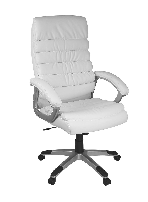 Design schreibtischstuhl  AMSTYLE, Bürostuhl, SPM1.184, VALENCIA Bezug Kunstleder Weiß ...