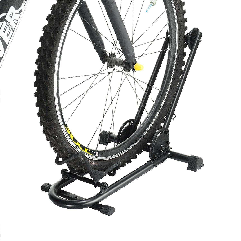 Rad soporte de suelo de almacenamiento de productos de ciclo bicicleta plegable bicicleta Rack: Amazon.es: Deportes y aire libre