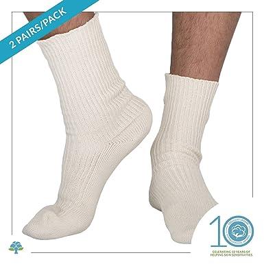 Essential Layer Inc Elite elastic-free 100% calcetines de algodón Multicolor natural Medium: Amazon.es: Ropa y accesorios