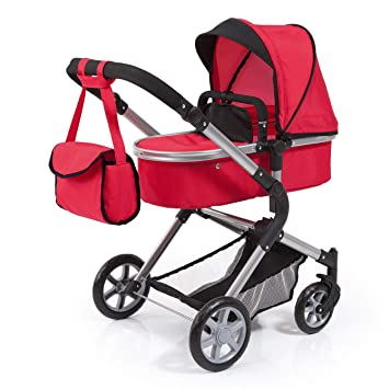 Amazon.es: Bayer Design Cochecito de muñecas Combi City Neo, transformable, Bolsa de hombo y Cesta Integrado Color Rojo 18199AA: Juguetes y juegos