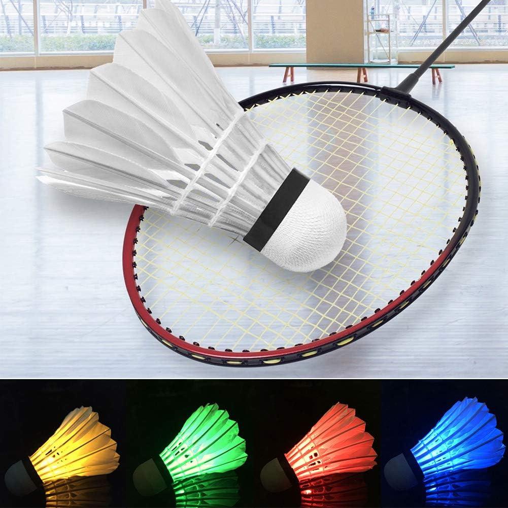 Lot de 4/LED Volants de Badminton LED Sports dentra/înement de Badminton Balles de Lot Dark Night Glow Birdies /éclairage pour ext/érieur//int/érieur activit/és de Sports