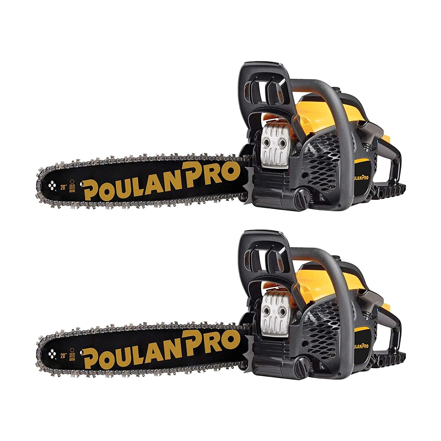 Poulan Pro 20 Bar 50cc 2 Cycle Gas Chainsaw Certified Refurbished 2 Pack