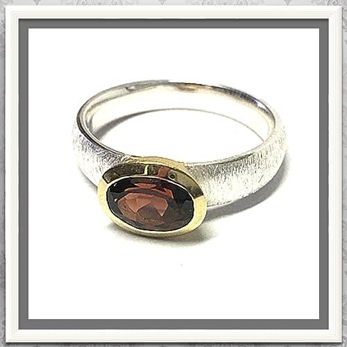 Granat Ring Bicolor