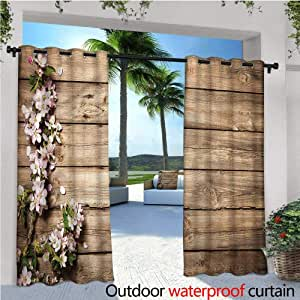 Cortina de privacidad para Exteriores cálida Familia rústica para pérgola con Arco Veneciano Puerta térmica Aislante Repelente al Agua Drape para balcón: Amazon.es: Jardín