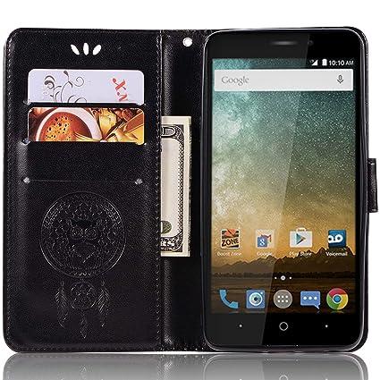 Amazon com: ZTE Sonata 3 Z832 Leather Case, ZTE Sonata 3