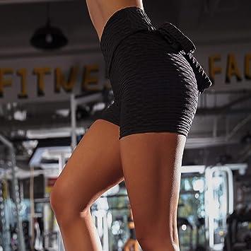 Amazon.com: Charmsamx - Pantalones cortos de yoga para mujer ...