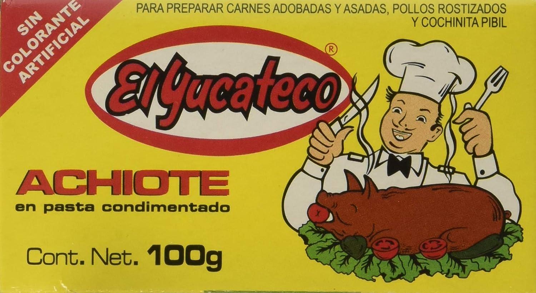 El Yucateco Achiote Paste 3.5 OZ (Pack of 3)