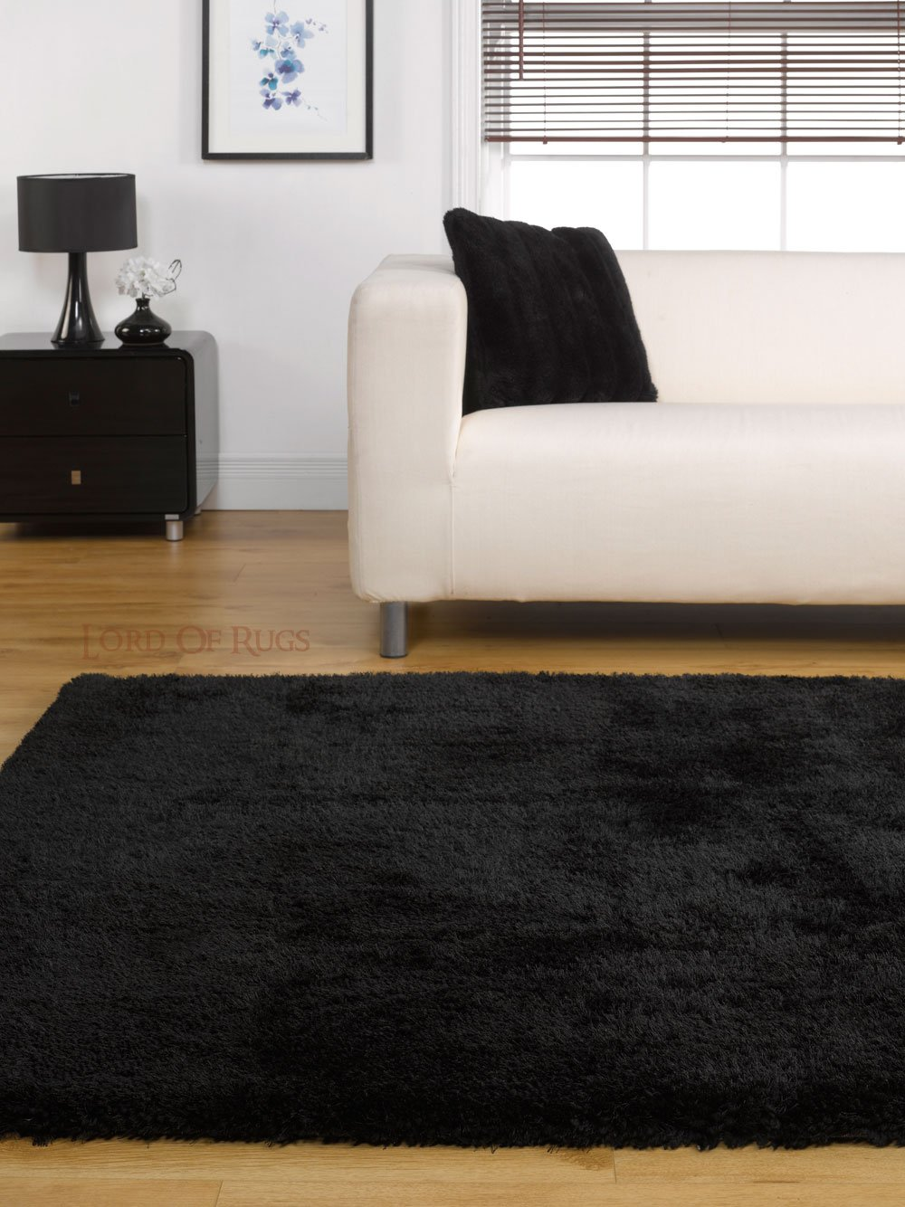 Large Soft Thick Luxurious Shaggy Rug In Black 160 X 220 Cm (5u00273 X 7u00273)  Carpet By Lord Of Rugs: Amazon.co.uk: Kitchen U0026 Home