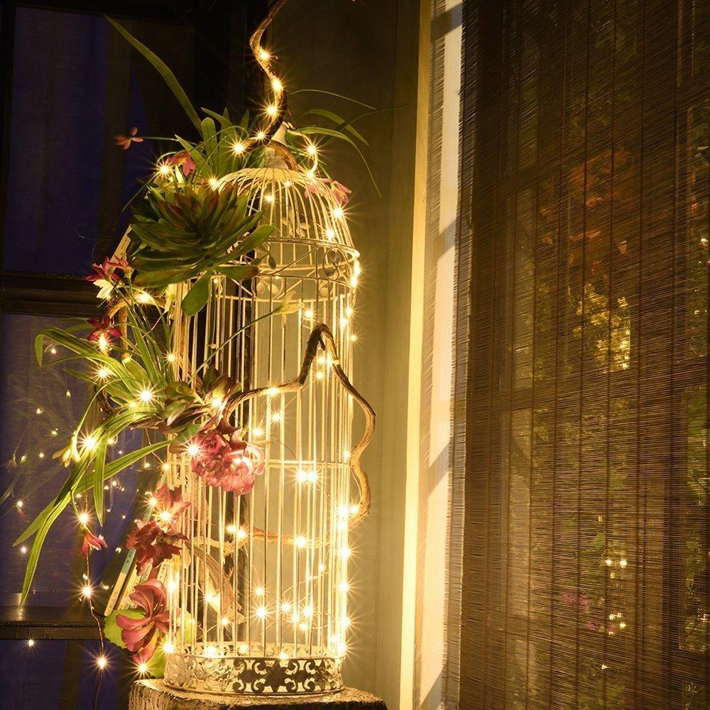 Loende weihnachtsbeleuchtung Lichterkette Batterie betrieben 100 LED ...