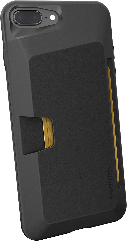 Smartish iPhone 7 Plus / 8 Plus Wallet Case - Wallet Slayer Vol.1 [Slim + Protective + Grip] Credit Card Holder for Apple iPhone 8 Plus / 7 Plus (Silk) -Black Tie Affair