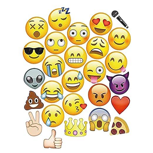Trimming Shop 8pcs Emoji Caras Accesorios para Cabina de ...