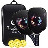 niupipo Pickleball Paddles, USAPA Pro Graphite Pickleball Paddle Set of 2 Pickleball Racquet 4 Pickleball Balls 1 Bag, Polypr