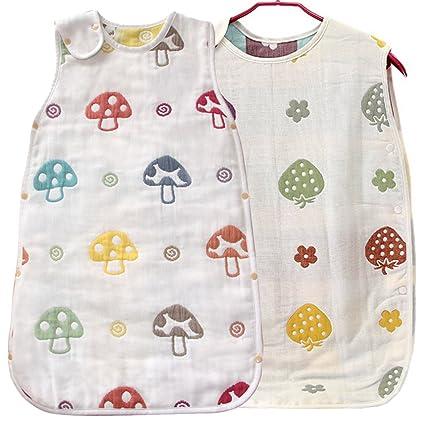KF Baby muselina Saco de dormir, bolsa de dormir de manta, juego de 2