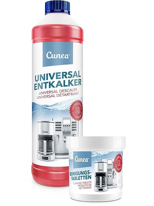 Cunea 750 ml descalcificador y 50 x Pastillas de limpieza para ...