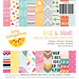 American Crafts Amy Tangerine Rise and Shine Patterned Paper Pad, 6 by 6-Inch