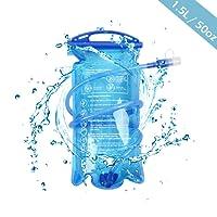 TRIWONDER 1.5/2/3L Trinkblase BPA Frei Wasserreservoir Wasserbehälter für Fahrrad Wandern Camping Rucksack Trinksystem
