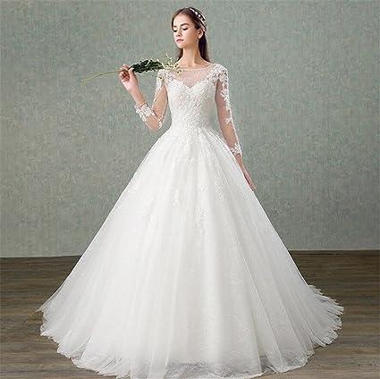 more photos 41dc8 bad00 LUCKY-U Hochzeitskleid, Spitze Sexy Bequeme Kleider Lange ...