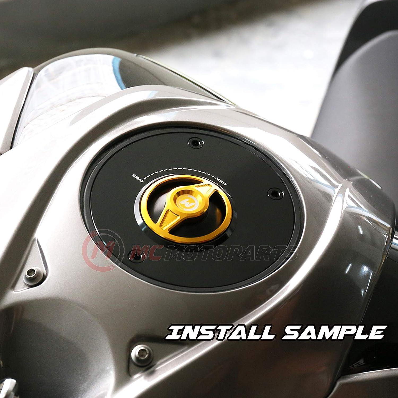 MC Motoparts Black REVO CNC Quick Release Gas Fuel Cap For Kawasaki KLE300 VERSYS-X 300 17-19 Z650 17-19 Ninja 400