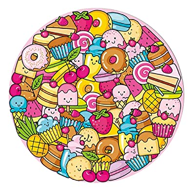 Marvelous Monkey 1000 PCS - Colorful Dessert Round Jigsaw Puzzles Game for Adults and Kids: Toys & Games