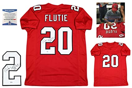 the best attitude dabe9 c1121 Doug Flutie Signed Custom Jersey - Beckett - Autographed w ...