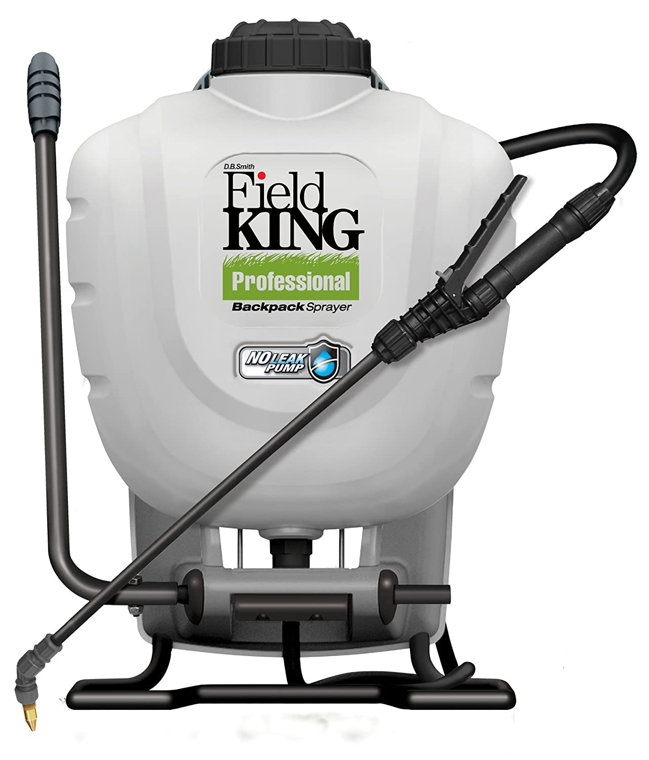 Field King Professional 190328 No Leak Pump Backpack Sprayer for Killing Weeds in Lawns and Gardens