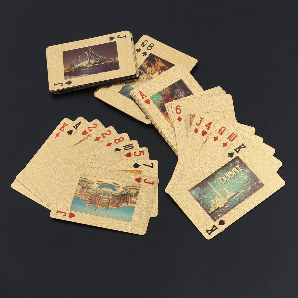 YeahiBaby Cartas de Póker de Edificio Dubai Juguete para la ...
