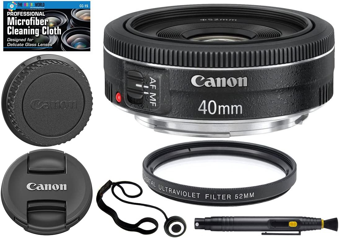Lens Cleaning Pen 52mm Filter Microfiber Cleaning Cloth Accessory Bundle Canon EF 40mm f//2.8 STM Lens