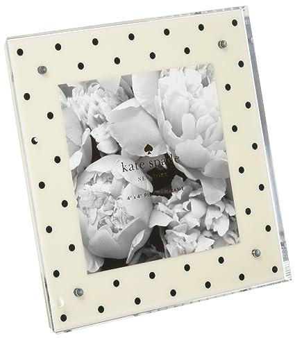 Amazon.com: Kate Spade Acrylic Picture Frame, Cream & Black Dots ...