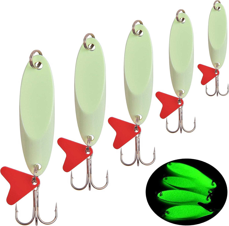 10Pcs Luminous Grub Worms Lures Glow in the Dark Soft Bait Fishing Lure Bait